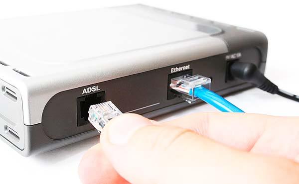 Подключение по ADSL